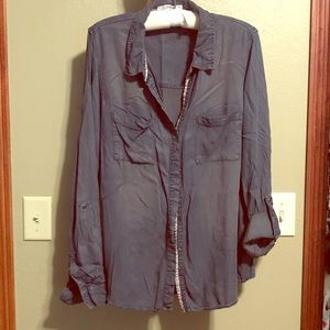 Sweet Maurices Button Down Shirt with Embroidery